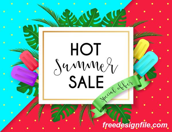 、ホット、ポスター、販売、夏