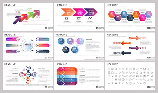 infographie énorme collection affaires