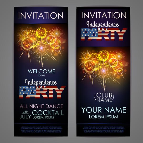 Unabhängigkeit tag party Karte Einladung