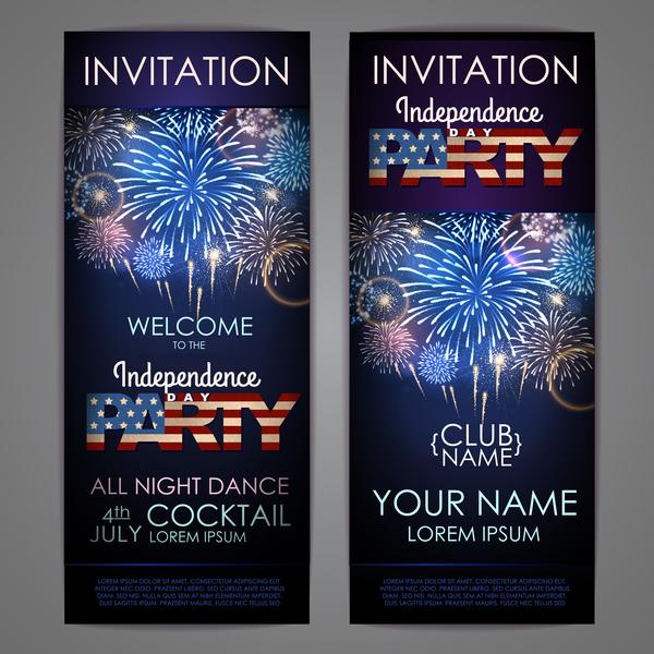 独立 日 招待状 パーティー カード