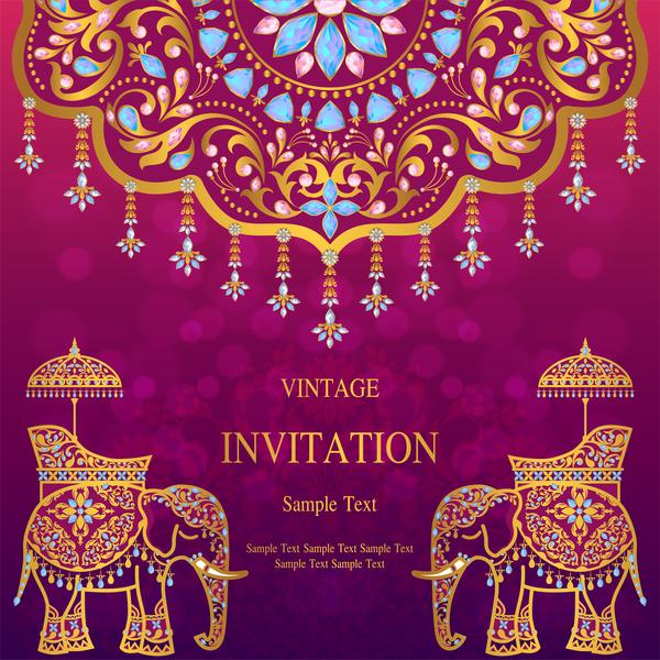lyx kort Indien inbjudan