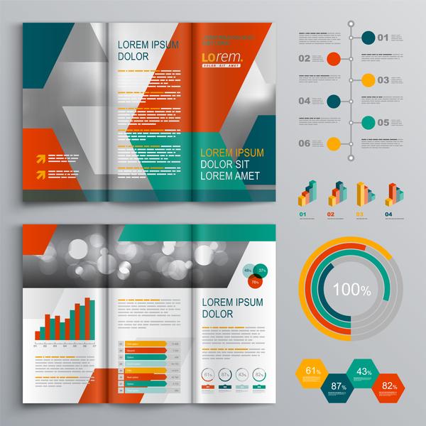moderne infographie brochure