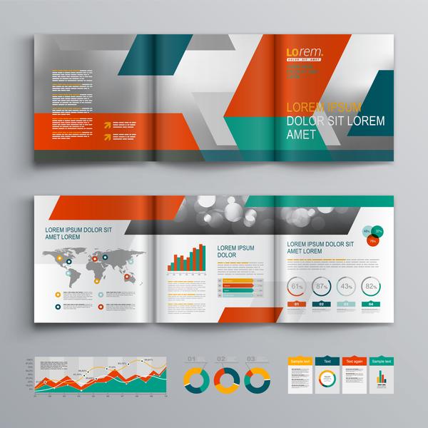 、パンフレット、インフォ グラフィック、現代