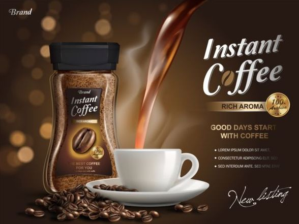 poster kaffee instant
