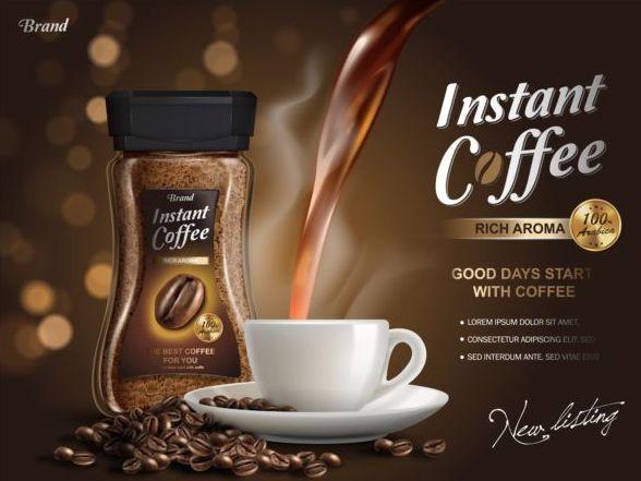 kaffe instant affisch
