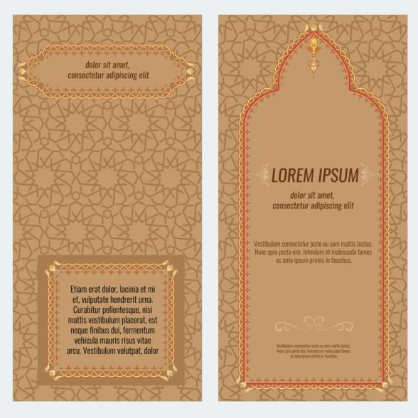 stile islamico opuscolo flyer coprire
