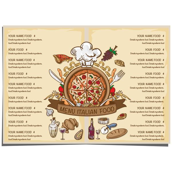 menu Italienisch Essen
