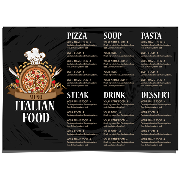 menu Italien Cuisine