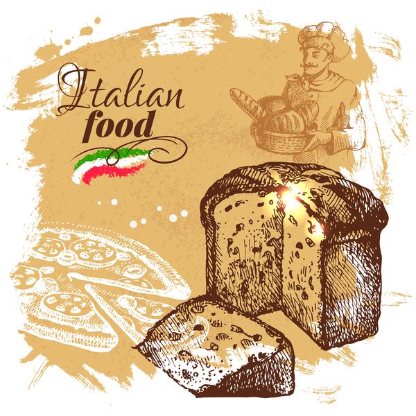 ポスター ビンテージ 、食品、イタリア語
