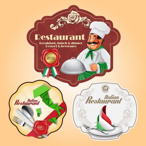 menu Italienisch Etiketten