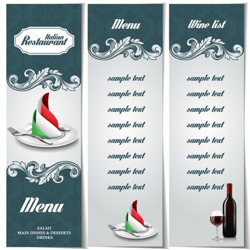 restaurang meny Italiensk
