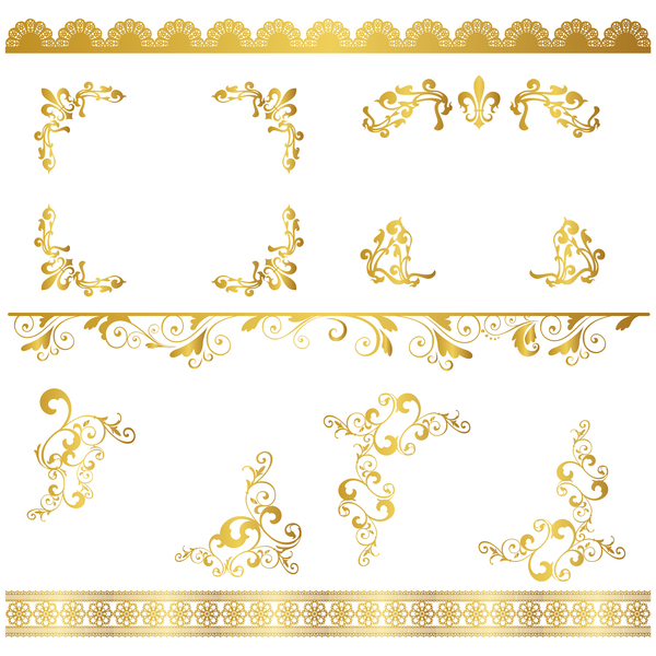ornaments lace golden border