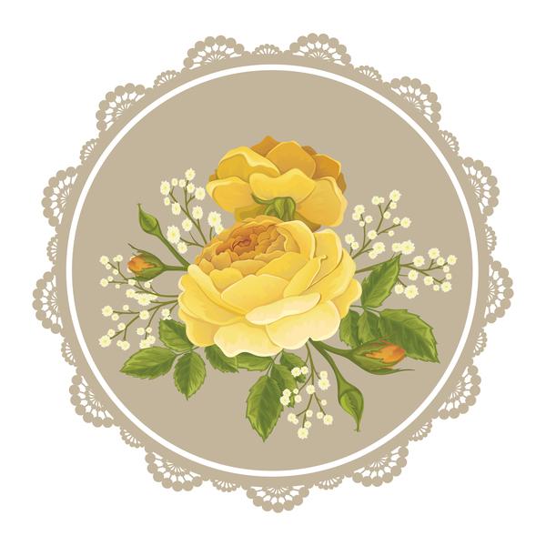 Spitze Rahmen card Blume