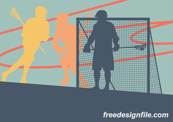 sport silhouette Lacrosse