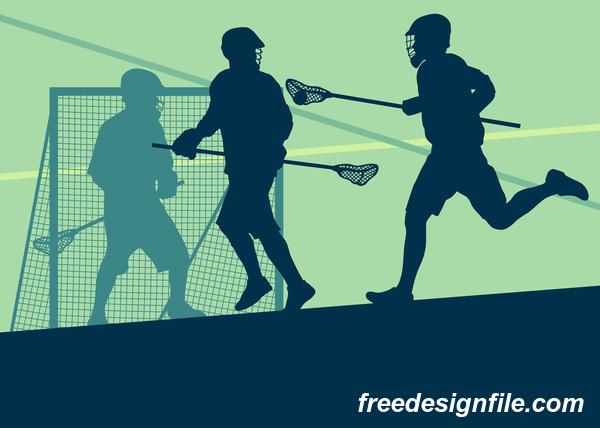ラクロス スポーツ シルエット