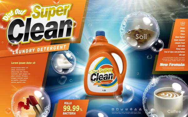 poster liquid laundry ads