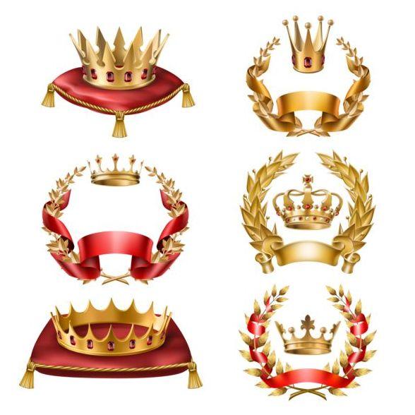 Luxus Lorbeer Krone gold