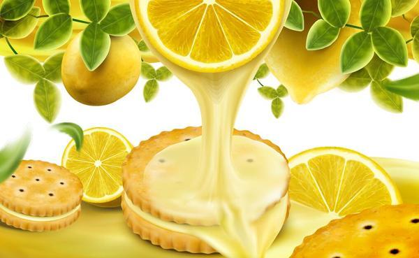 Zitrone poster cookies