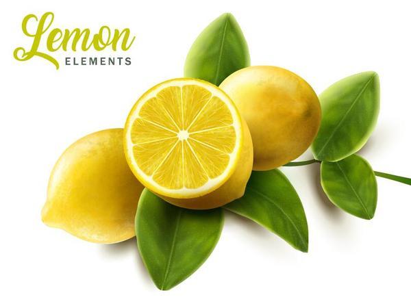 Zitrone grün Blätter