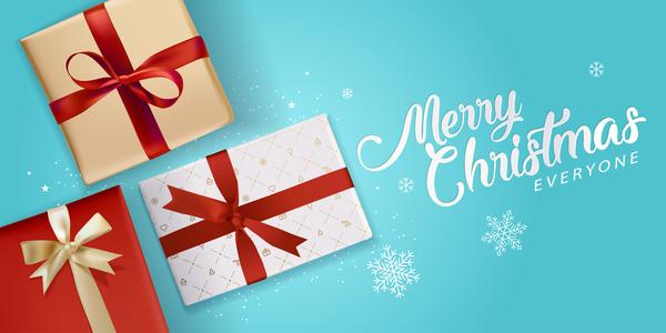 Noel lumière cadeau Boxs bleu