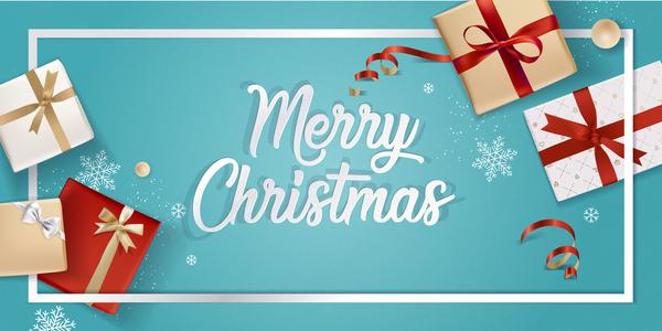 、青い、ボックス、クリスマス、ギフト、光