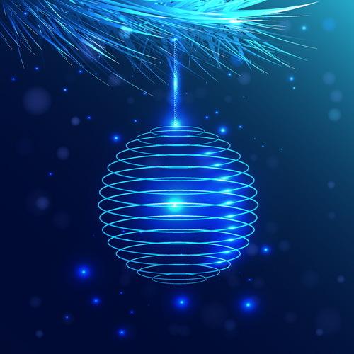 palla Natale linee decorazioni blu