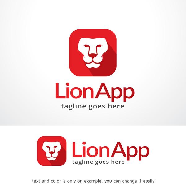 、アプリ、ライオンのロゴ