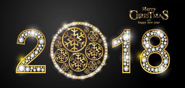 Nuovo Natale lusso diamante anno 2018