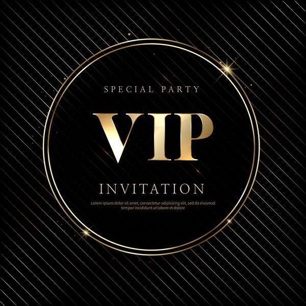 高級、VIP 招待状 、黒、カード、ゴールデン