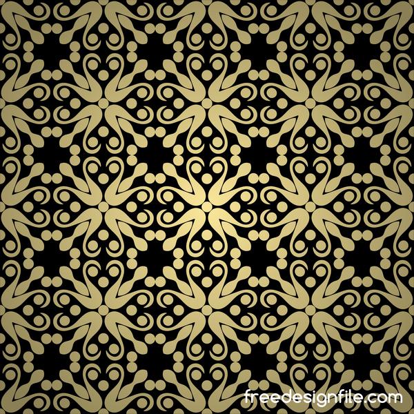 nahtlose Muster Luxus golden dekorative