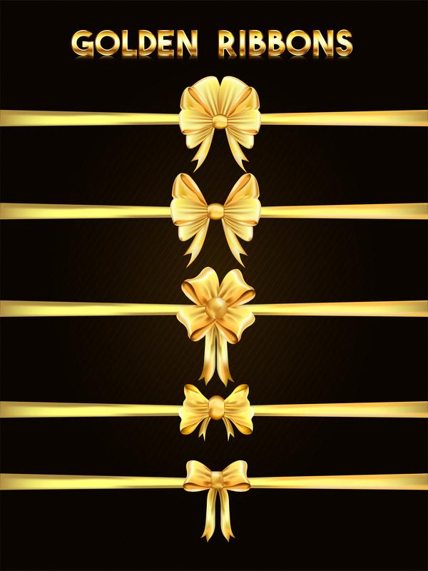 nastri lusso dorato fiocco