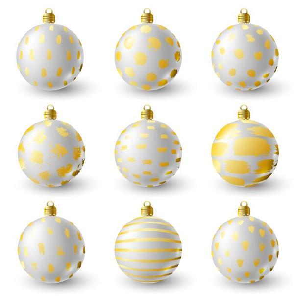 vit lyx jul inredning Gyllene bollar
