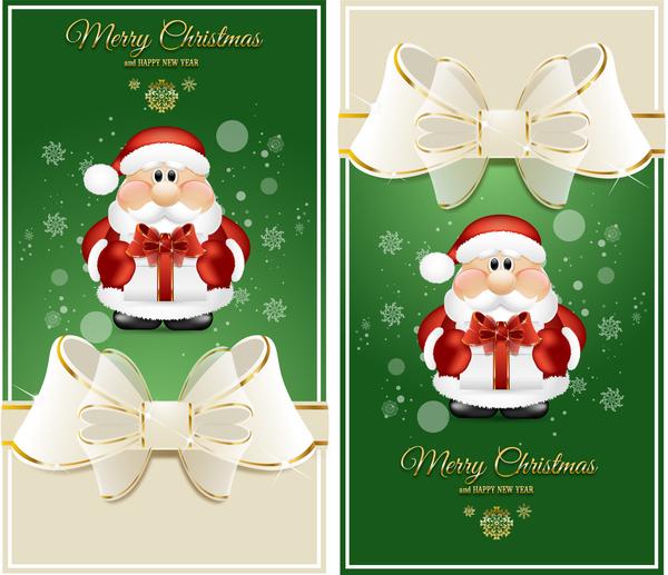santa lyx kort jul grön
