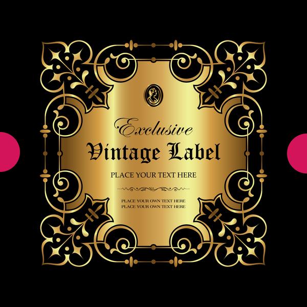 oro ornamentale lusso etichetta