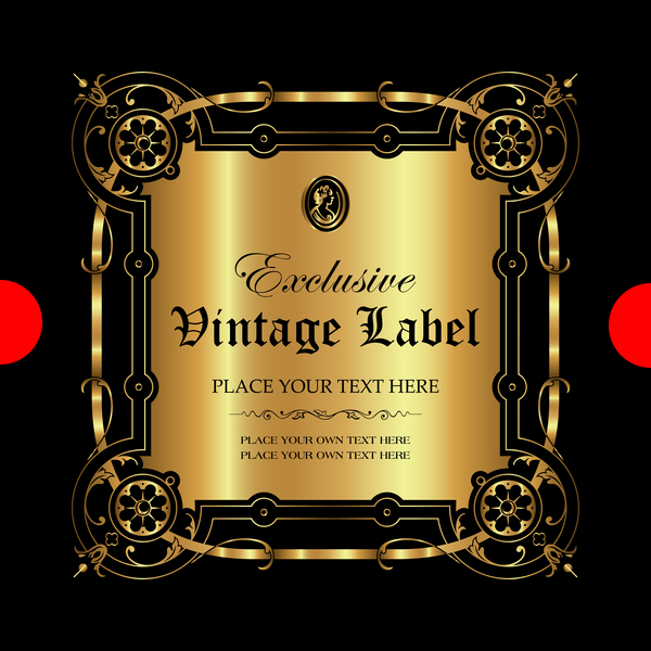 ornamental luxury label gold