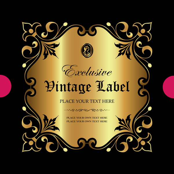 ornament Luxus label gold