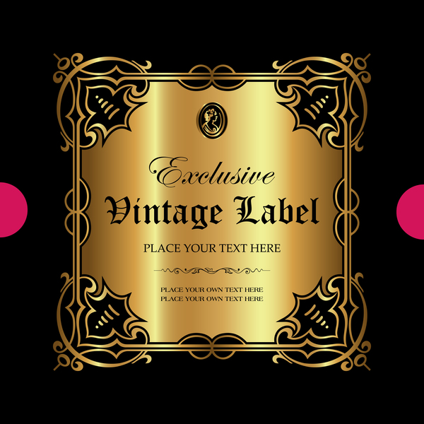 ornamental luxury label gold