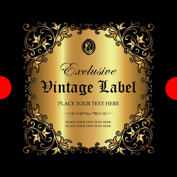 ornament Luxus label gold