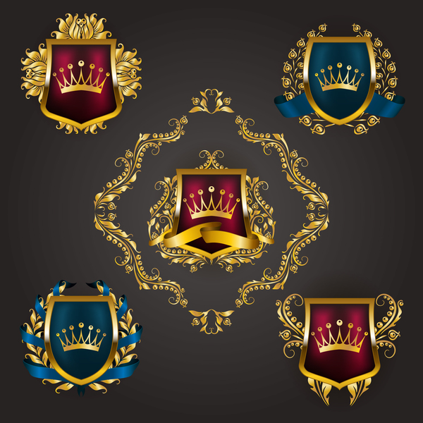 sköld lyx heraldiska etikett