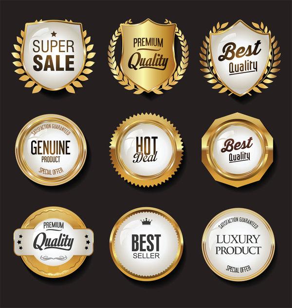 weiß Luxus Etiketten