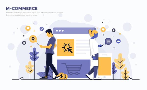 Verksamhet platt m-commerce