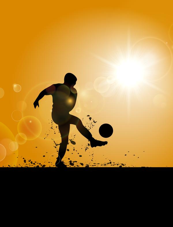 uomo silhouette football