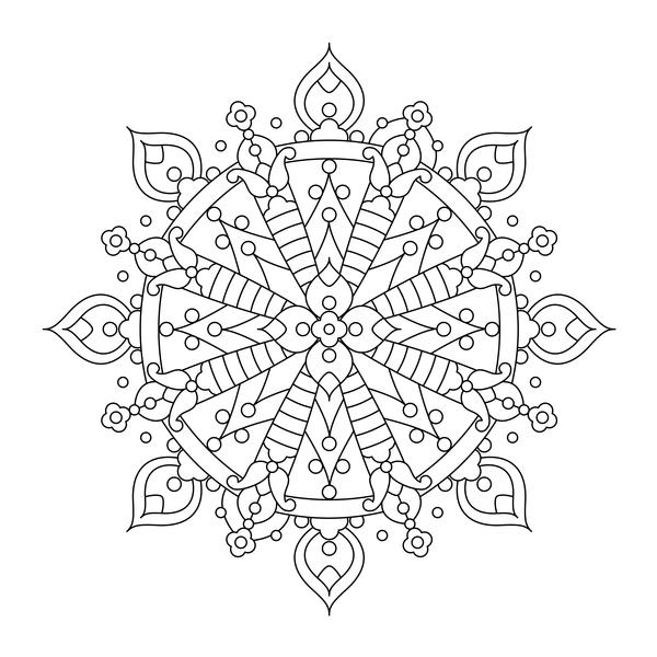 modèle Mandala dessiné décoratif