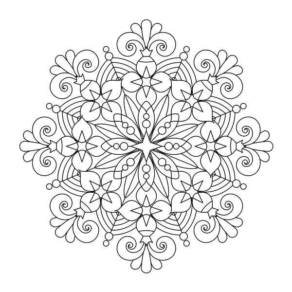modello Mandala disegnato decorative