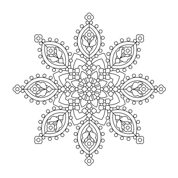Muster Mandala gezeichnet dekorative