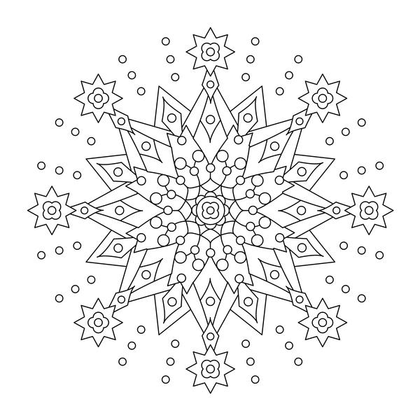 monster Mandala dras dekorativa