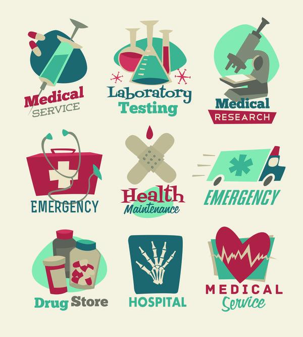 Sanitätsdienst gesund Etiketten