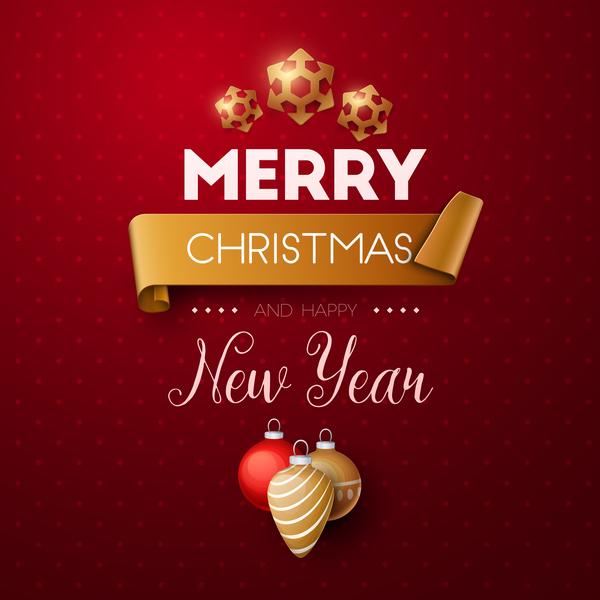 Nuovo Natale felice anno allegro
