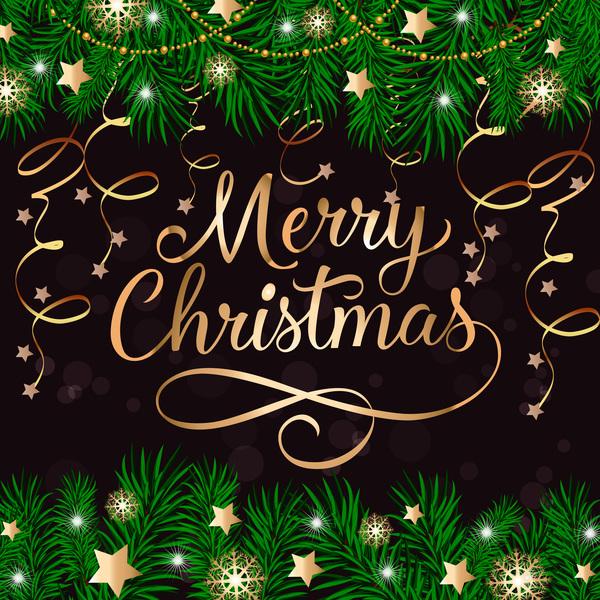 star Natale nastro merry dorato decorazione