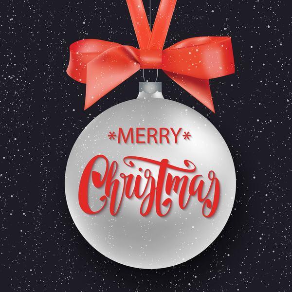 rouge Noel joyeux boule boucles